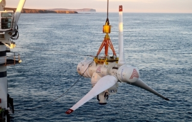 First Tidal Energy Turbine with Lockheed Martin Technology Deployed Off Scotland Coast (Credit: Lockheed Martin)