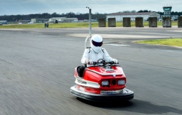 The Stig on his dodgem (Credit: PA)