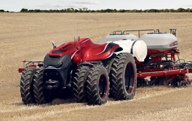 Although the autonomous concept vehicle was developed in the form of a cabless tractor, Case IH executives explained that combines or other equipment would operate on the same technology (Credit: Case IH)