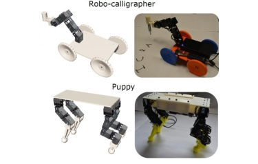 An interactive design tool developed by Carnegie Mellon University was used to design and test in simulation two robots (Credit: Carnegie Mellon University)