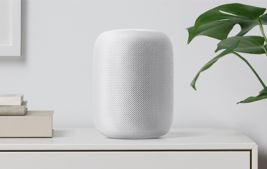 HomePod delivers a perfect listening experience whether placed on a shelf, in a corner or in the centre of a room (Credit: Apple)