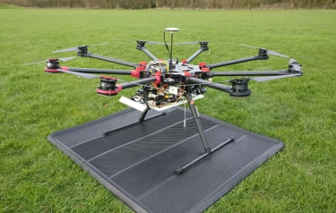 This drone will be used in one of the University of Leeds projects in the challenge event