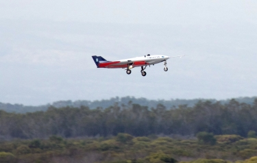 SAGITTA takes off on its first flight (Credit: DLR)