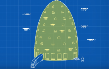 Amazon's drone beehive concept (Image courtesy of PatentYogi/YouTube)