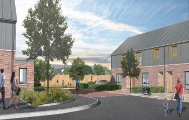 Artist's impressions of the Active Homes Neath development (Credit: SPECIFIC Innovation & Knowledge Centre)