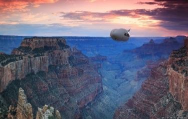 Airlander 10 in flight (Credit: Hybrid Air Vehicles)