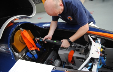 Tools from Atlas Copco are being used primarily by BLOODHOUND SSC for vehicle build and test operations where fastening torque settings are critical.