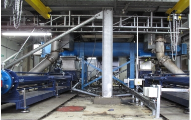 SEEPEX open hopper pumps transferring high ds% dewatered sludge at Thames Water
