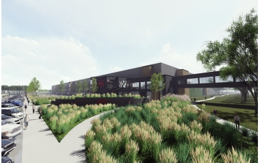 Rendering of Digi-Key's new building in Thief River