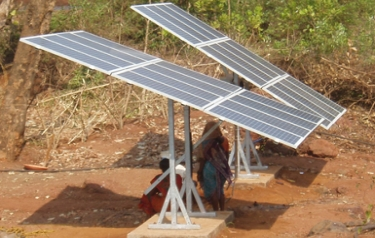 Preparing the solar array (Credit: Interlock)