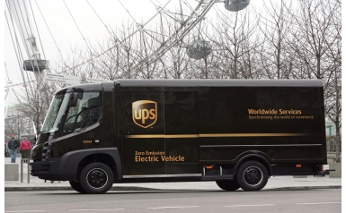Modec fully electric vehicle used in London (Credit: UPS)