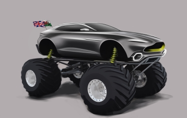 Darren Turner to campaign DBX-based racer in US series 'Monster Jam' (Credit: Aston Martin)