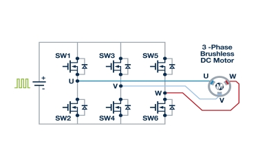 Figure 2: 3-phase bridge driver circuit