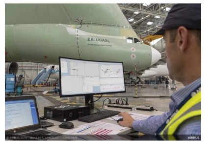 Beluga XL ground vibration tests (Credit: DLR)