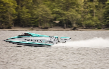 The unique Jaguar Vector V20E recorded an average speed of 88.61mph (Credit: Jaguar Vector Racing)