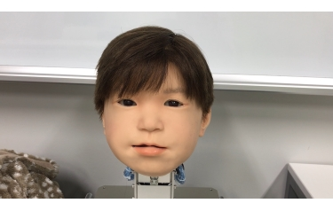 The newly developed face of the Affetto child android robot. Affetto's face was first revealed in published research in 2011. (Credit:Osaka University)