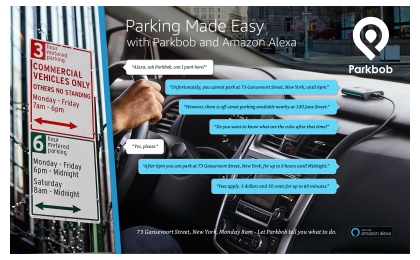 "Parkbob teams up with Amazon: ""Alexa, am I allowed to park here?"" (Credit: Parkbob)"