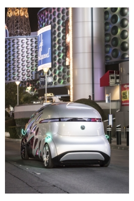 Mercedes-Benz Vision URBANETIC on the Las Vegas Strip (Credit: Mercedes)