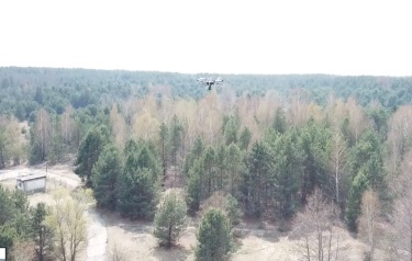 Drone over the Red Forest (Credit: NCNR)