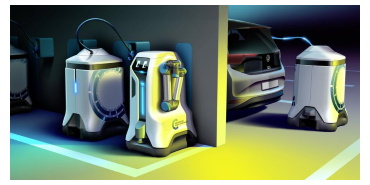 Compact and autonomous: Volkswagen Group Components' mobile charging robot