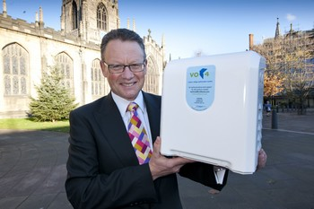 Geoff Clifton of VO4HOME with the voltage optimisation product