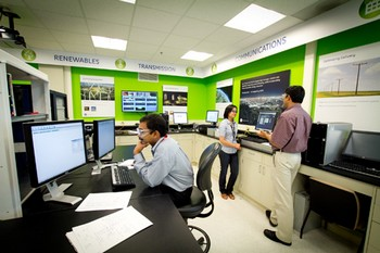 GE's Smart Grid lab at its global research centre in Niskayuna, New York, where its EV research is based
