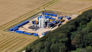 A Cuadrilla Resources shale gas drilling site