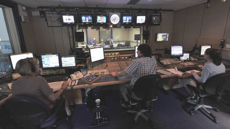 Behind the scenes in the Today Programme studio