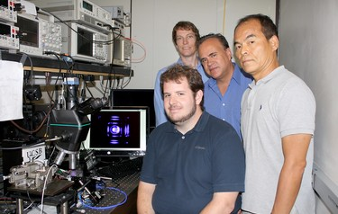 Shuji Nakamura and his research group at UCSB demonstrate the first nonpolar m-plane VCSEL based on gallium nitride