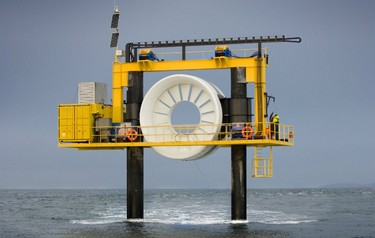 Open Hydro's test rig at the EMEC tidal test site (Image: Mike Brookes-Roper)