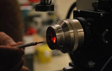 "This laser is used to optically ""heat "" very small particles. Photo courtesy of ARL"