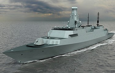 Computer-generated image of the basic specification of the Type 26 Global Combat Ship (photo credit: BAE Systems/MoD)