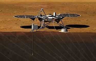 An artist's impression of the Mars InSight craft (image courtesy of NASA)
