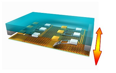 A 3D schematic of the ultra-high-density probe memory device (photo courtesy of Noureddine Tayebi/Intel Corporation)