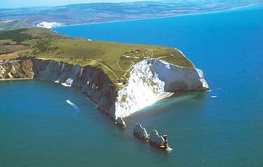 Aerial photograph of The Needles, Isle of Wight courtesy of the Isle of Wight  Tourist Board