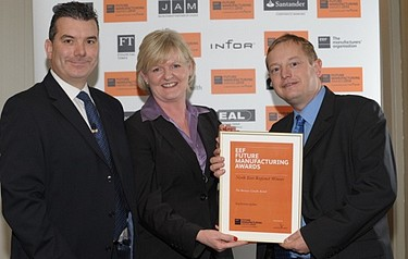 The company's efforts were recognised last year when it won the EEF North-East award for business growth