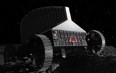 Solar-powered Polaris can accommodate a drill to bore one metre into the lunar surface