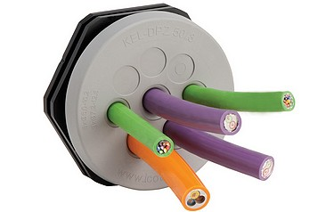 New circular cable entry plates from M Buttkereit achieve both strain relief and IP66 sealing