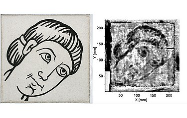 The terahertz scanner not only finds hidden wall pictures, but can also prove the presence of biocides on pieces of art (photo credit: HfbK)