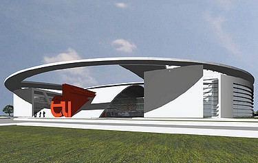 An artist's impression of the ELI Attosecond Facility, currently under development in Hungary