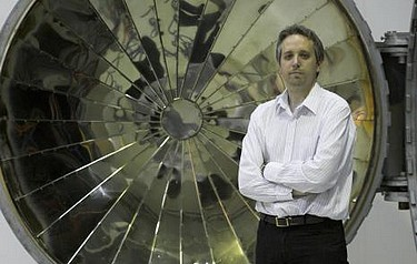 Ian Handscombe, composites manager at Prodrive, stands in front of one of the company's new autoclaves