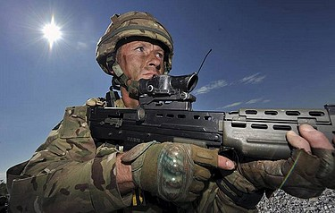 An Army reservist on a training exercise in Italy (picture: Sergeant Russ Nolan RLC, Crown Copyright/MOD 2012)