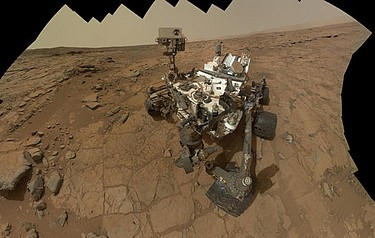 This self-portrait of NASA's Mars rover Curiosity combines 66 exposures taken by the rover's Mars Hand Lens Imager (MAHLI). Image courtesy of NASA/JPL-Caltech/MSSS