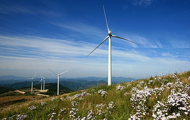 A rural wind farm (photo courtesy of RenewableUK)