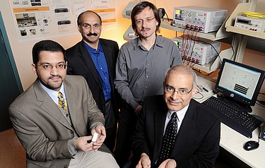 Georgia Tech researchers Muhannad Bakir, Andrei Fedorov, Yogendra Joshi and Suresh Sitaraman