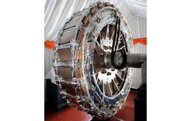 The inner rotor of GE's high temperature superconducting technology, Hydrogenie (photo: GE Power Conversion)