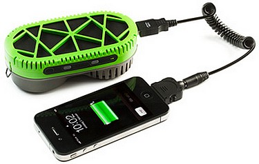 The portable PowerTrekk only needs a little water to charge a mobile phone