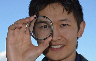 Kenneth Chau (pictured) and colleagues have developed a negative-index material that can be sprayed onto surfaces and act as a lens (photo: University of British Columbia)