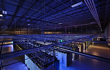 Moving local software applications to cloud data centers like this one promise significant energy savings, according to a study led by Berkeley Lab