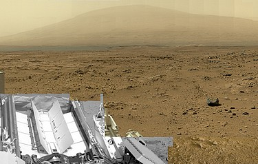 This is a reduced version of the panorama from NASA's Mars rover Curiosity with 1.3 billion pixels in the full-resolution version (image courtesy of NASA/JPL-Caltech/MSSS)